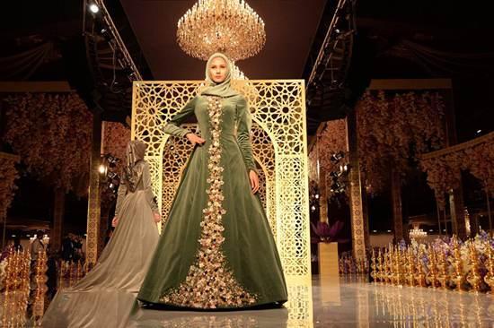 مراسم انواع مدل لباس مجلسی با حجاب در کشور چچن