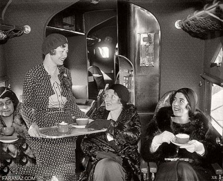 تصاویری تاریخی از اولین حضور مهماندار زن در هواپیما