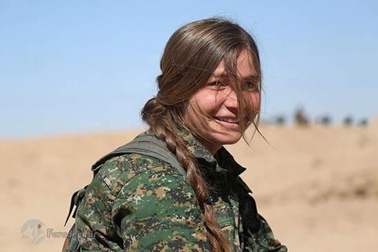 عکس های جالب از دختر جوان کرد در جبهه مبارزه با داعش