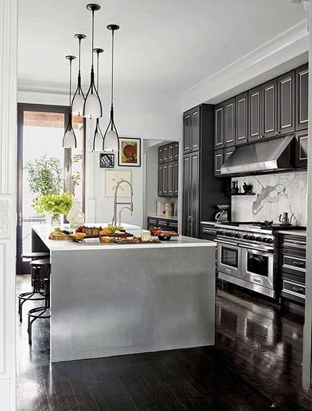 انواع مدل دکوراسیون های شیک آشپزخانه با رنگ مشکی
