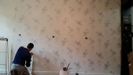 راهنمایی چسباندن کاغذ دیواری در خانه ی اجاره ای