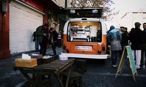 در آمد های قابل توجه کافه های سیار در پایتخت