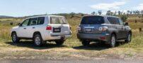 مقایسه و مشخصات خودروهای لندکروز و پاترول