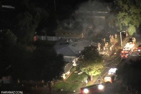 هواپیمایی که روی منزل مسکونی سقوط کرد (عکس)