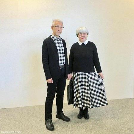 بهترین ست لباس سال بر تن دو زوج عاشق پیر (عکس)