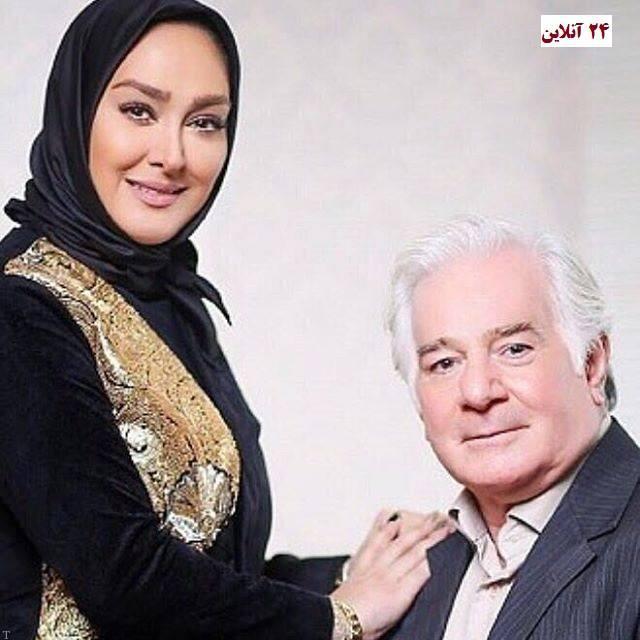 عکس الهام حمیدی در کنار پدرش به مناسبت روز پدر