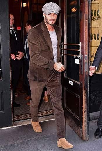 شیک پوشی و استایل های جذاب دیوید بکهام در خیابان