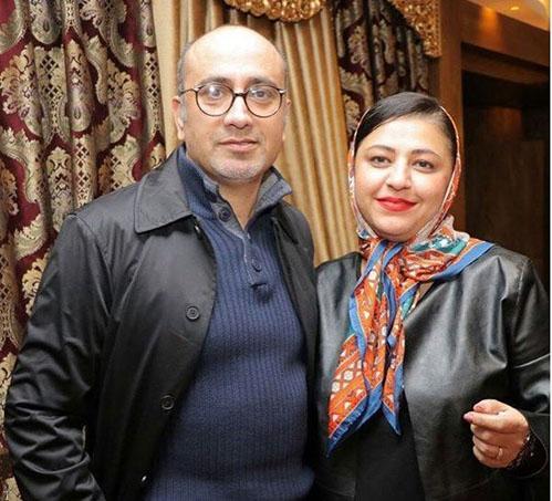 تصویر عارف لرستانی در کنار همسرش