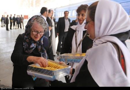 توقف قطار گردشگری خارجی در کرمان (+تصاویر)
