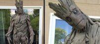 هنرمندی که با چوب درخت لباس آدم ساخت (+عکس)