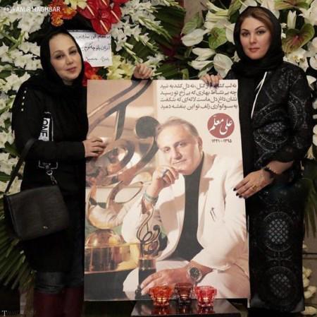 تصاویری از حضور بازیگران در مراسم مرحوم علی معلم