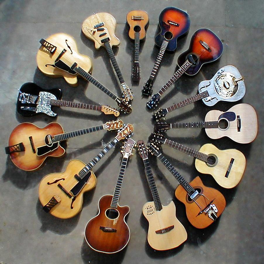 انواع مدل های محبوب گیتار برای گیتاریست ها