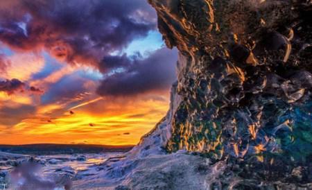 تصاویری از زیباترین غار کریستالی در ایسلند