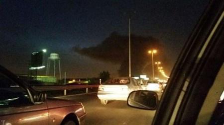 تصاویری مبنی بر آتش گرفتن کارخانه سایپا