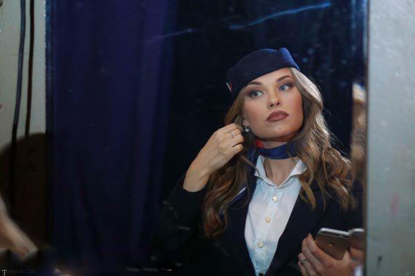 تصاویری جالب از زیباترین زنان مهماندار هواپیما در روسیه