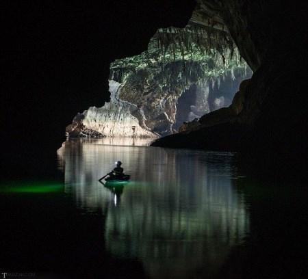 عکس های شگفت انگیز از غار آبی لائوس