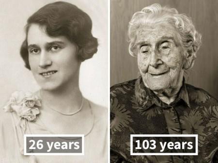 مقایسه افراد معروف در جوانی و پیری (عکس)