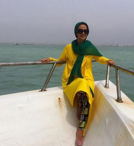 گالری عکس های داغ الناز حبیبی در ساحل