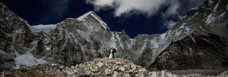 ازدواج در قله اورست عروس و داماد