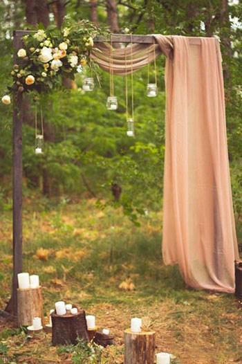 نمونه هایی از انواع مدل های جایگاه عروس و داماد در مجالس