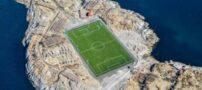 عکس هایی از زمین فوتبال در جزیره کوچک نروژ