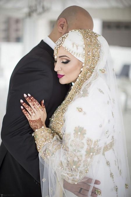 کلکسیون زیباترین مدل لباس عروس حجاب دار