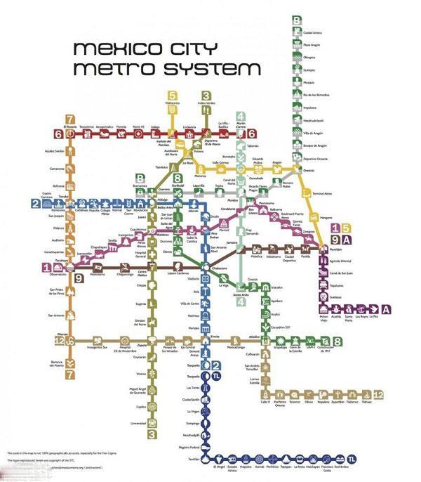 نقشه ای از خطوط ریلی داخل شهرهای جهان