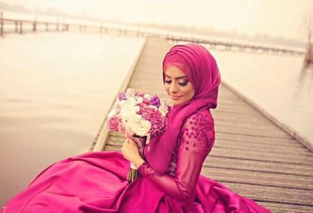 زیباترین مدل های لباس عروس محجبه