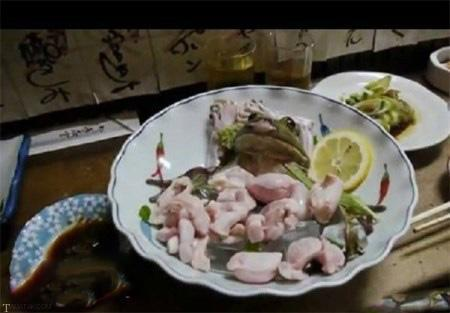 قورباغه زنده در رستوران های ژاپن (+عکس)