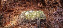 تصاویر شگفت انگیز از تونل های گدازه ای در استرالیا