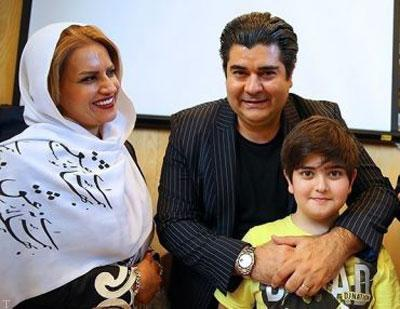 تصویری از سالار عقیلی در کنار همسر و فرزندش