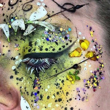 انواع آرایش های چشم با فیلتر گل و بلبل زیبا