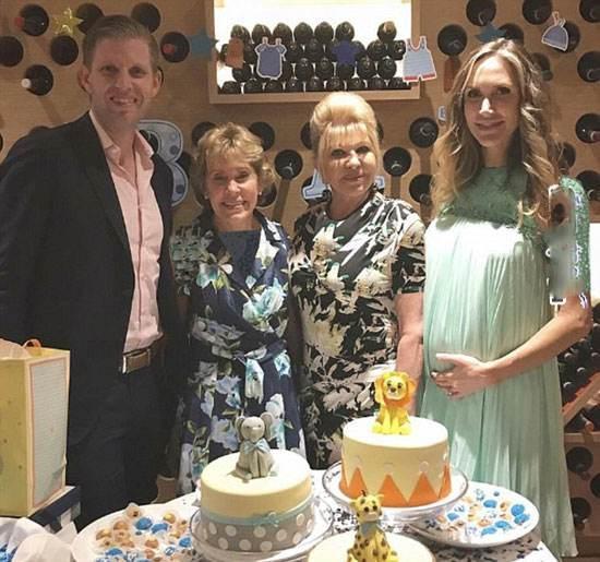 حضور ایوانکا ترامپ در جشن نوزاد برادرش