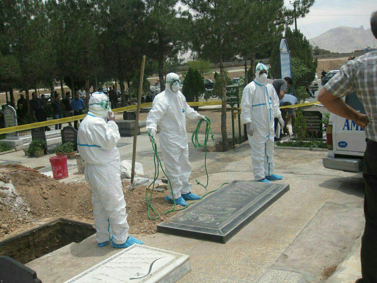 دفن یکی از فوتی های مشکوک به بیماری تب کنگو