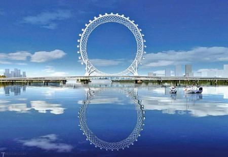 بزرگ ترین چرخ و فلک دنیا در کشور چین (عکس)