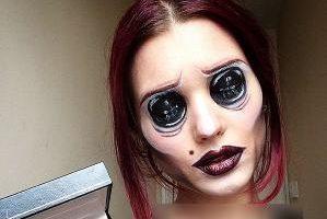 تغییر عجیب در چهره دختر 19 ساله (عکس)