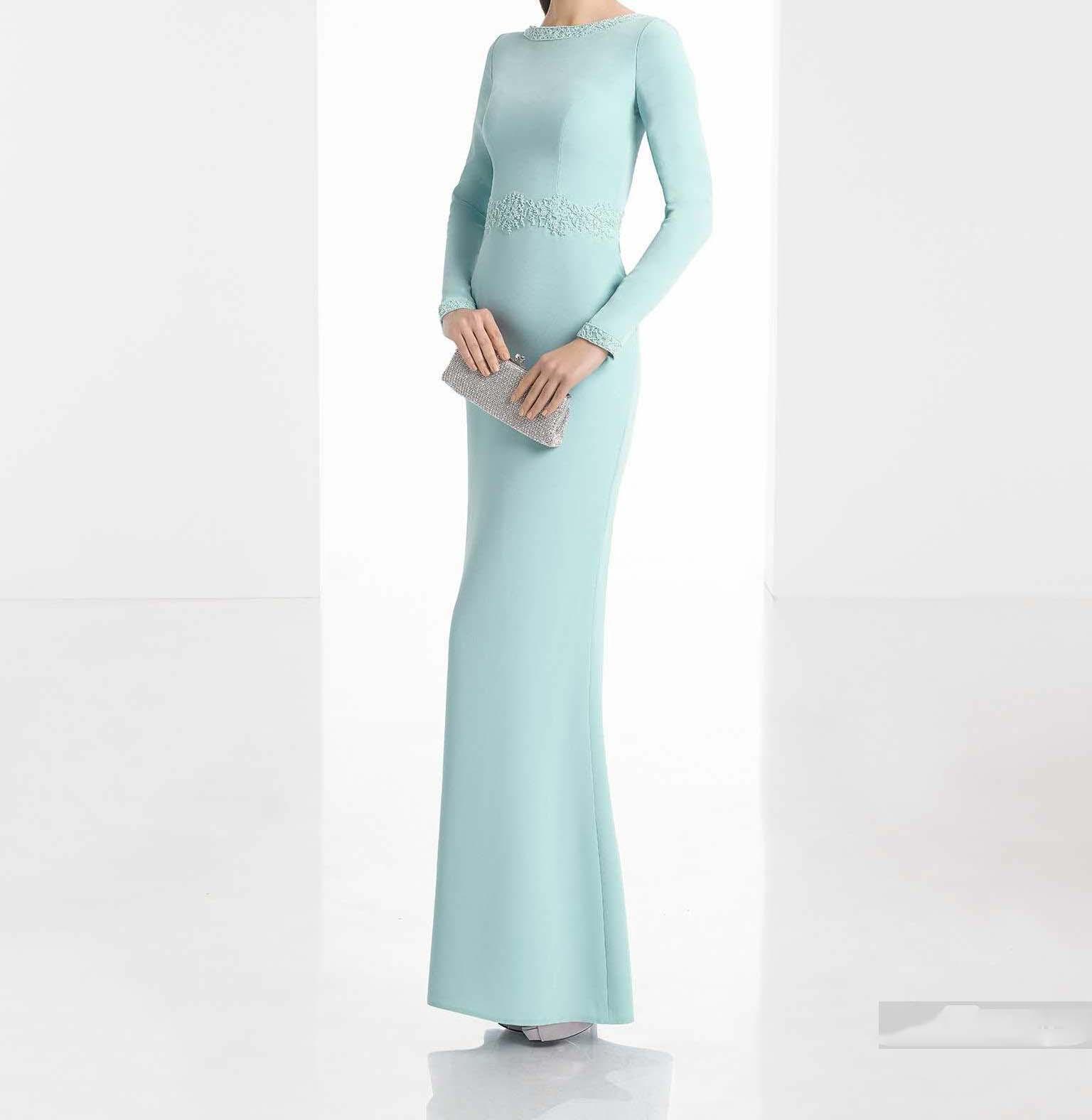 مدل های لباس مجلسی آستین بلند و پوشیده 2020