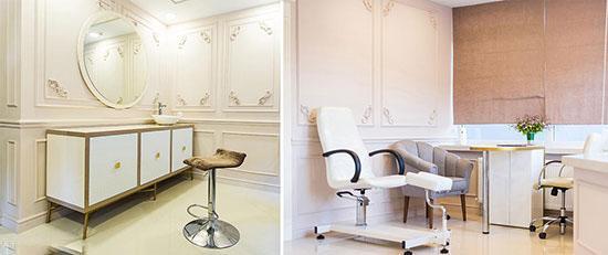 شیک ترین دکوراسیون آرایشگاه زنانه