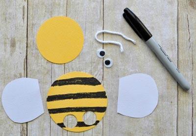 درست نمودن کاردستی زنبور با مقوا