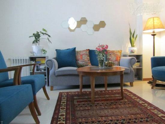 دکوراسیون شیک خانه 60 متری در تهرانپارس