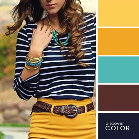 لباس های تابستانی ست رنگ های تند