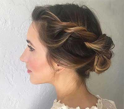 مدل های زیبایی شنیون مو مخصوص عروس