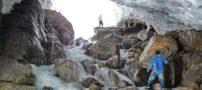 ریزش در تونل برفی ازنا در استان لرستان