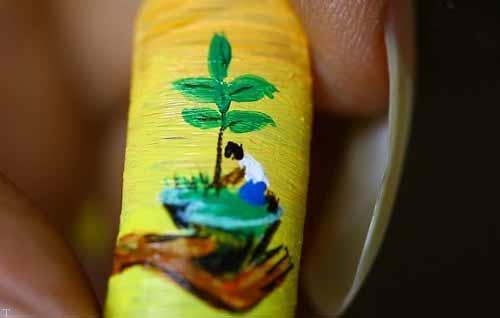 عکس های کشیدن نقاشی جالب روی ناخن