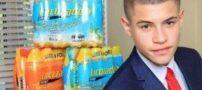 این پسر با فروش شیرینی در مدرسه پولدار شد (عکس)