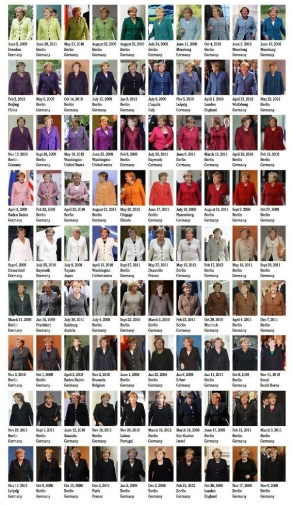 مدل های مختلف کت و دامن خانم آنگلا مرکل
