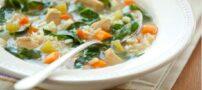 آموزش تهیه سوپ رژیمیِ سبزیجات با مرغ