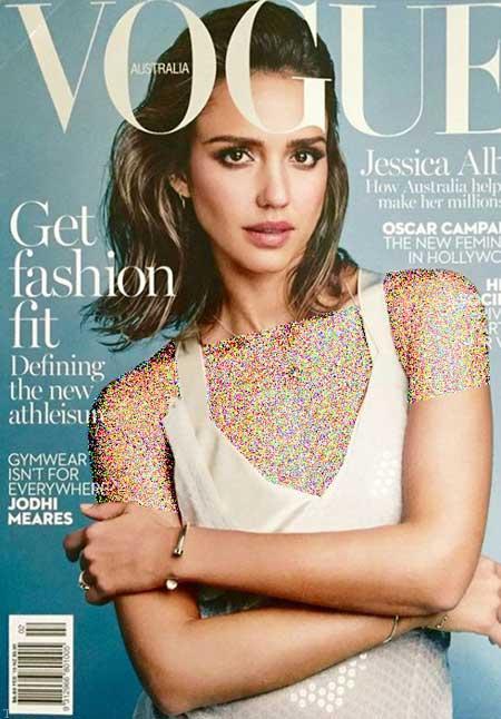 جدیدترین عکسهای جسیکا آلبا روی مجله آمریکایی ووگ