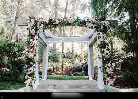 تزیینات ورودیه باغ عروسی (عکس)