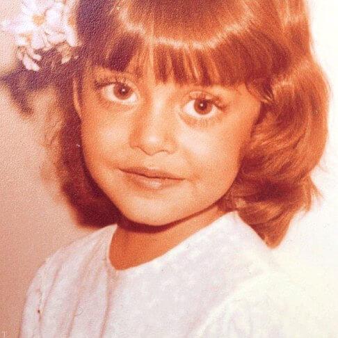 تصویری از کودکی بهاره کیان افشار